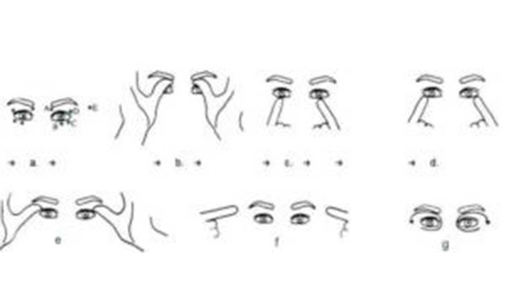 masaż oczu. Masaż na zmarszczki wokół oczu.